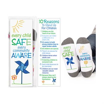 Every Child Safe/Every Community Aware Ankle Socks with Keepsake Card