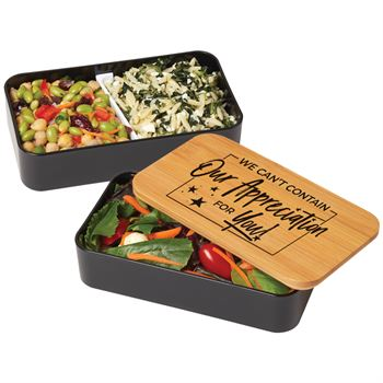 We Can't Contain Our Appreciation For You! 2-Tier Bamboo Bento Box