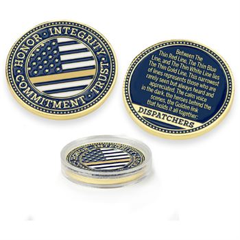 The Thin Gold Line Challenge Coin With Case