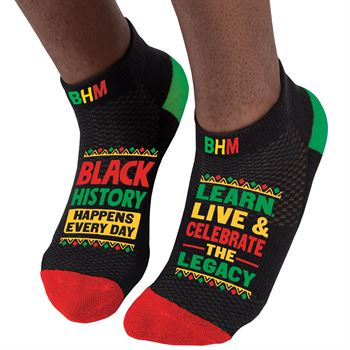 Black History Happens Every Day Ankle Socks