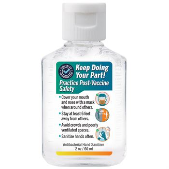 Keep Doing Your Part! Practice Post-Vaccine Safety 2-Oz. Hand Sanitizer Gel