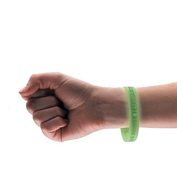 Be Bright, Eat Smart Glow In The Dark Silicone Wristband