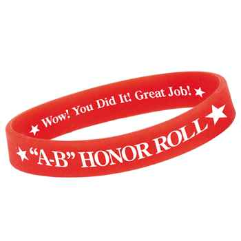 A-B Honor Roll Silicone Bracelet (Red)
