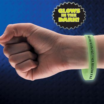 I'm A Military Kid...And Proud Of It! Glow-In-The-Dark Silicone Bracelet
