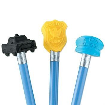 Assorted Police Pencil Toppers