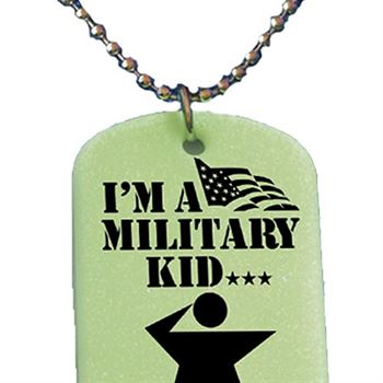I'm a Military Kid...And Proud Of It! Dog Tag