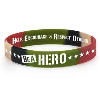 Be A Hero Camouflage 2-Sided Silicone Bracelet