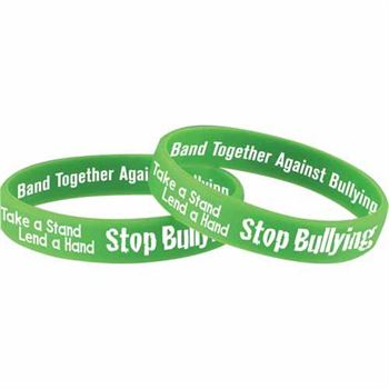 white free wristband way bracelet be blue awareness adult bullying to bully rubber and