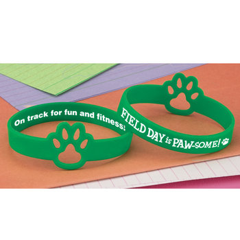 Field Day Is PAW-some! Die-Cut 2-Sided Silicone Bracelet