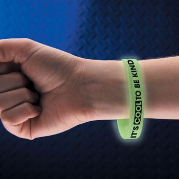 It's Cool To Be Kind Glow-In-The-Dark 2-Sided Silicone Character Bracelet