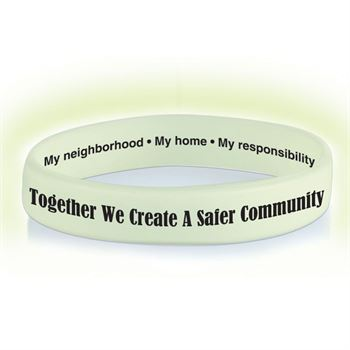 Together We Create A Safer Community Glow-In-The-Dark Silicone Awareness Bracelets