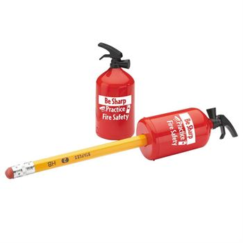 Be Sharp: Practice Fire Safety Fire Extinguisher-Shaped Pencil Sharpener - Pack of 25