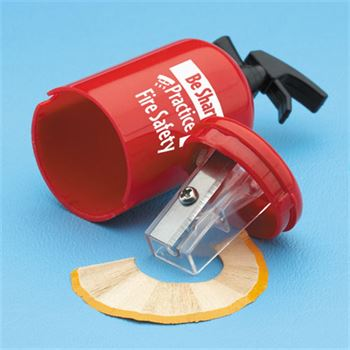 Be Sharp: Practice Fire Safety Fire Extinguisher-Shaped Pencil Sharpener