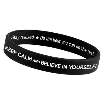 Keep Calm And Believe In Yourself! 2-Sided Silicone Bracelets - Pack of 10