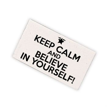 Keep Calm And Believe In Yourself! White Erasers - Pack of 25