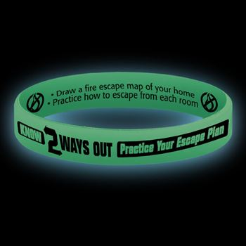 Know 2 Ways Out Glow-In-The-Dark Silicone Awareness Bracelets