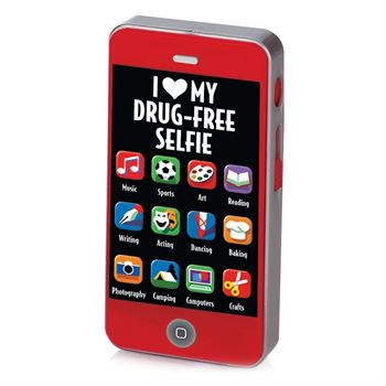 I (Heart) My Drug-Free Selfie Cell Phone-Shaped Sharpeners - Pack of 25