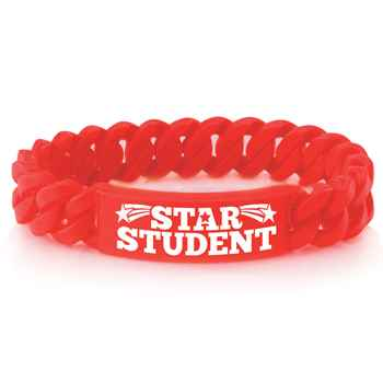 Star Student Link Silicone Bracelets - Pack of 10