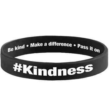 #Kindness 2-Sided Silicone Bracelets - Pack of 10