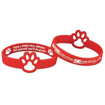 PAWS-itive Attitudes PAWS-itive Results Die-Cut 2-Sided Silicone Bracelets - Pack of 10