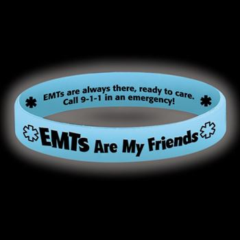 EMTs Are My Friends Glow-In-The-Dark Silicone Bracelet
