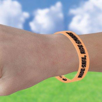 Ride Safe, Ride Smart Silicone Color-Changing Bracelet