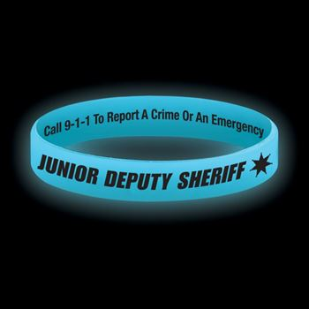 Junior Deputy Sheriff Two-Sided Silicone Bracelet