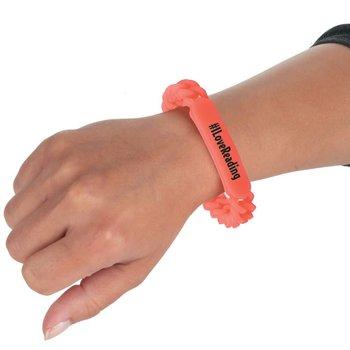 #ILOVEREADING Glow Chain Link Silicone Bracelet
