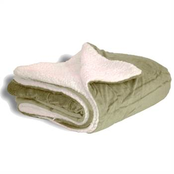 Embroidered Microfleece Sherpa Blanket - Personalization Available