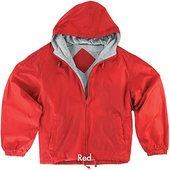 Fleece-Lined Hooded Jacket With Full Color Embroidery - Personalization Available
