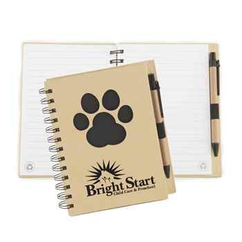 Black Paw Die-Cut Eco Jotter & Pen - Personalization Available