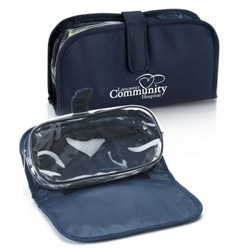 Navy Roll-Up Nylon Vanity Case - Personalization Available