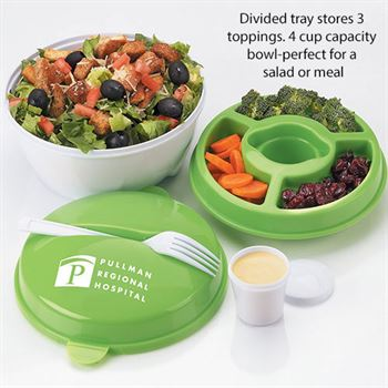 Round Food Container With Compartments - Personalization Available