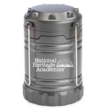 Indoor/Outdoor Retractable LED Lantern With Magnetic Base (Titanium) - Personalization Available