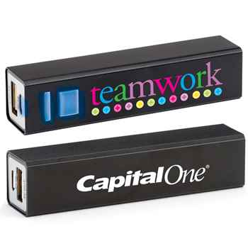 Teamwork Metal Power Bank - Personalization Available