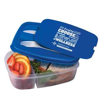 Choose Wellness 2-Section Food Container With Utensils - Personalization Available