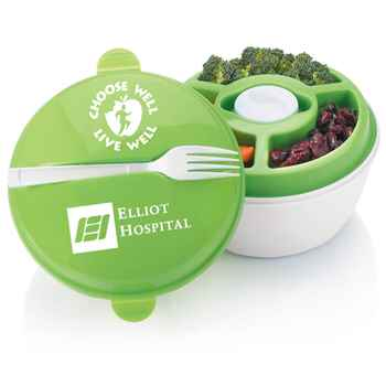 Choose Well, Live Well Round Food Container With Compartments Personalized