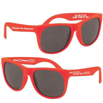 Too Cool To Play With Fire Sunglasses With Fire Tips Plus Personalization