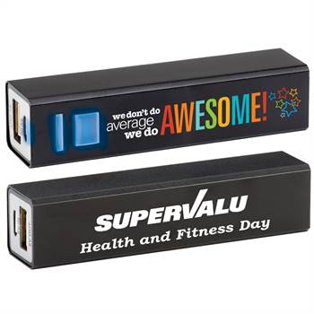 We Don't Do Average, We Do Awesome! Positivity Metal Power Bank with Personalization