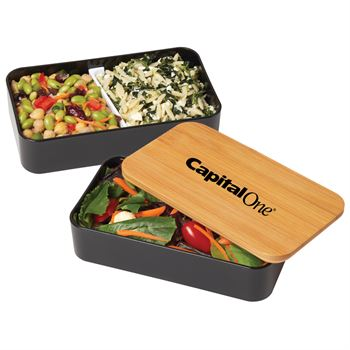 2-Tier Bamboo Bento Box - Personalization Available