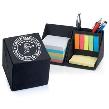 Recycled Note Cube Caddy - Personalization Available