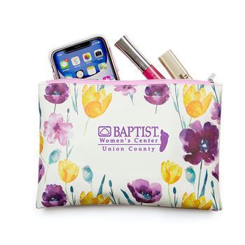Floral Carry-All Pouch - Personalization Available