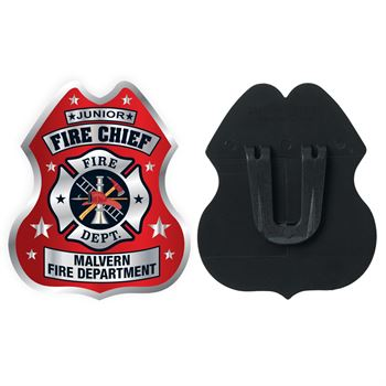 Junior Fire Chief Clip-On Junior Firefighter Badge With Personalization