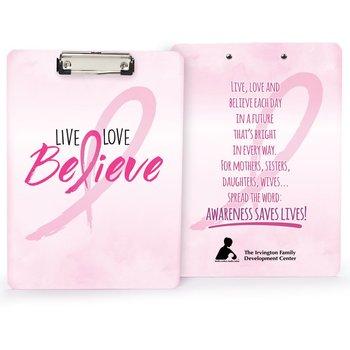 Live, Love, Believe Clipboard (Personalized)