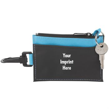 Blue Fabric Wallet With ID Holder - Personalization Available