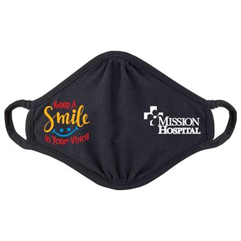 Keep a Smile in Your Voice 2-Ply 100% Cotton Face Mask - Personalization Available