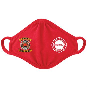 Junior Fire Chief 2-Ply Blended Youth Face Mask - Personalization Available