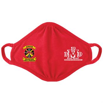 Junior Volunteer Fire & Rescue�2-Ply Blended Youth Face Mask - Personalization Available