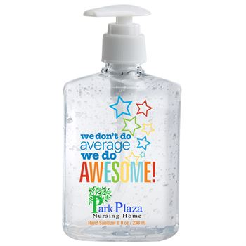 We Don't Do Average We Do Awesome! 8-Oz. Sanitizer Gel Pump - Personalization Available