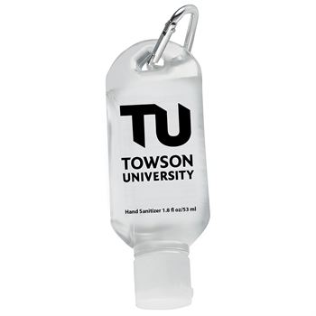 1.8 Oz. Hand Sanitizer With Carabiner Clip - Personalization Available